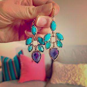 Kendra Scott Turquoise Sterling Dangle Earrings